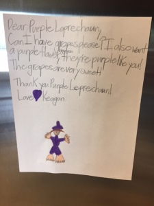 purple leprechaun letter